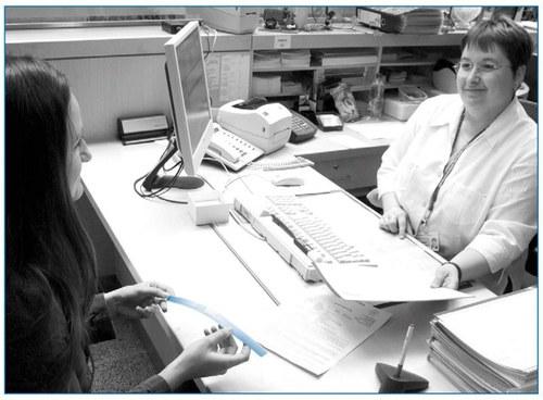 Beratungsgespräch bei der Patientenaufnahme