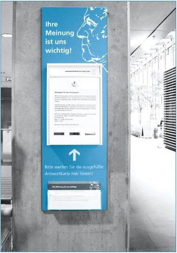 Briefkasten für die Feedback-Karte